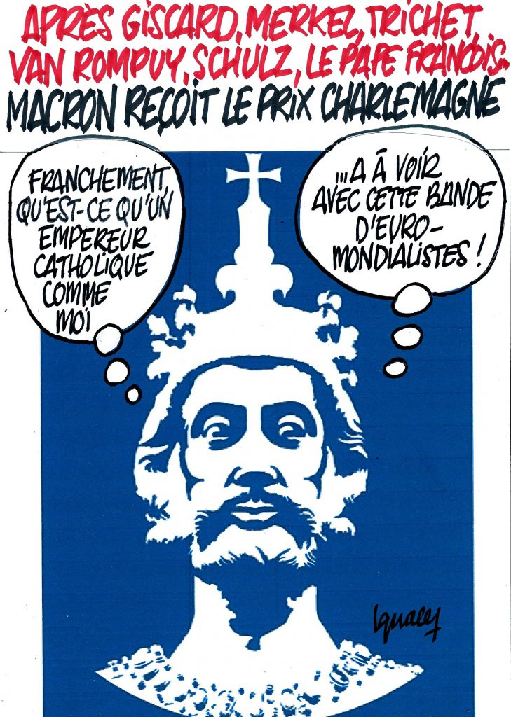 Ignace - Macron reçoit le prix Charlemagne