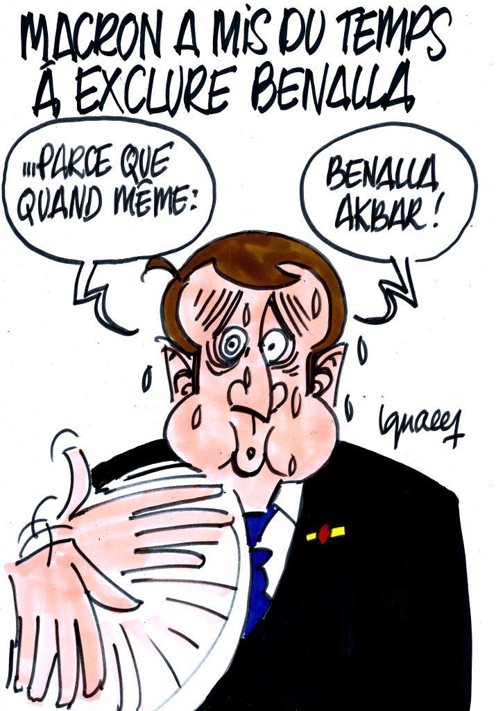Ignace - Macron a mis du temps à exclure Benalla