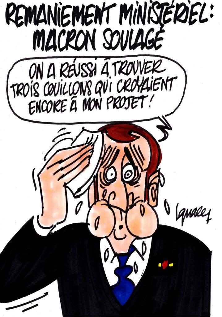 Ignace - Remaniement ministériel : Macron soulagé