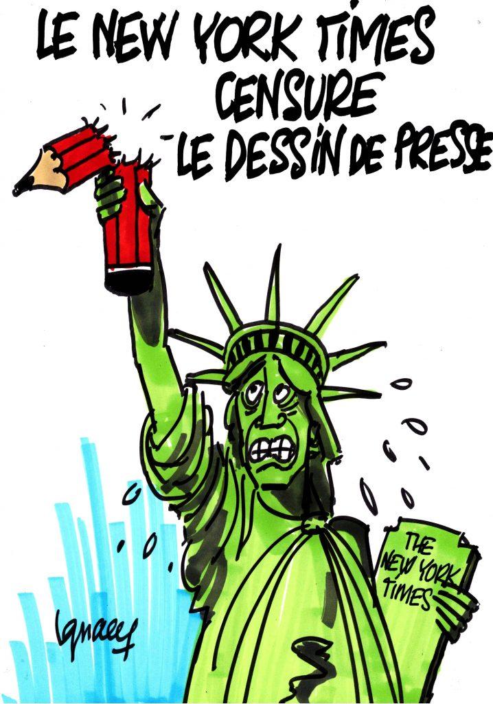 Ignace - Le New York Times censure le dessin de presse