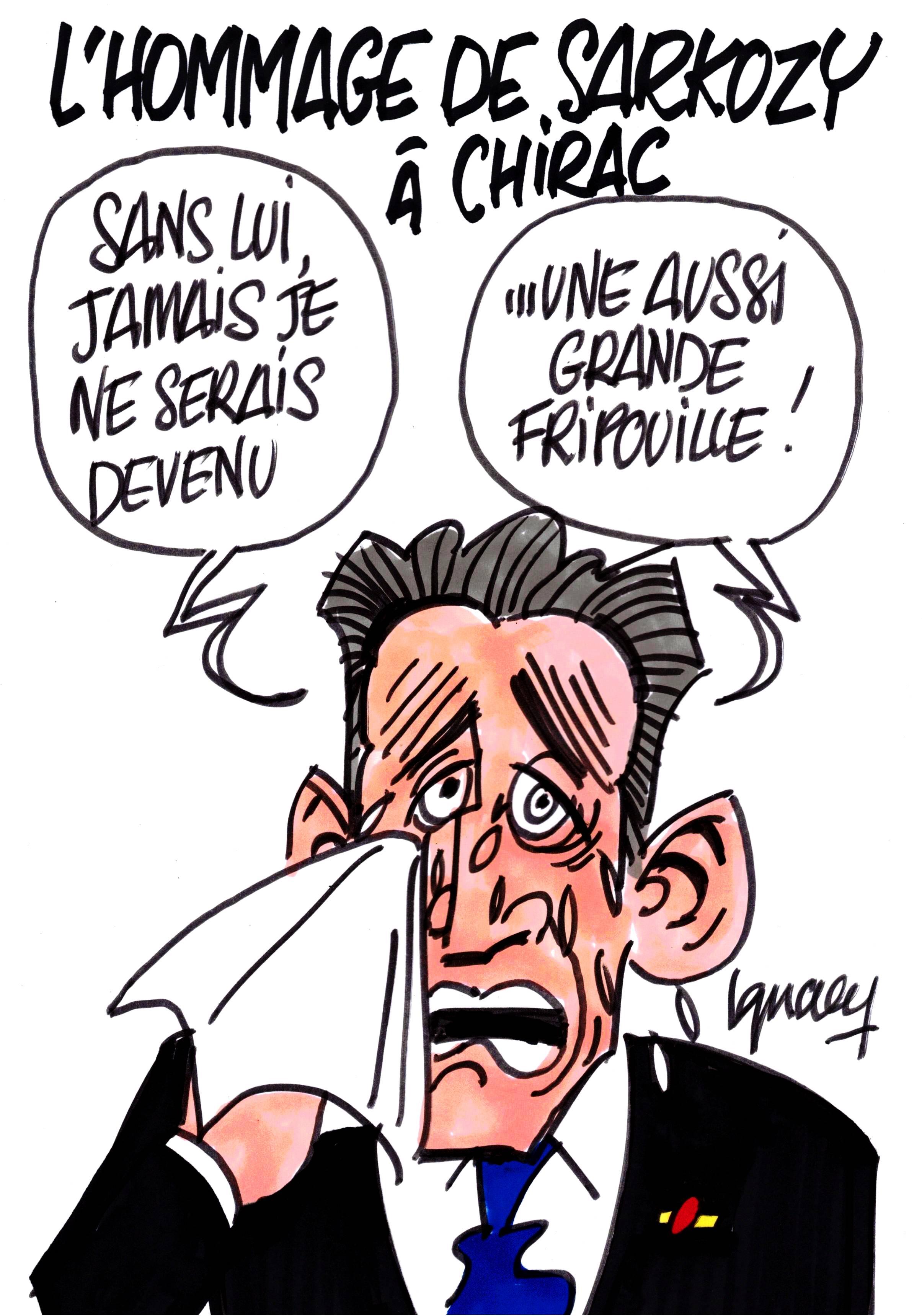 Ignace - Hommage de Sarkozy à Chirac