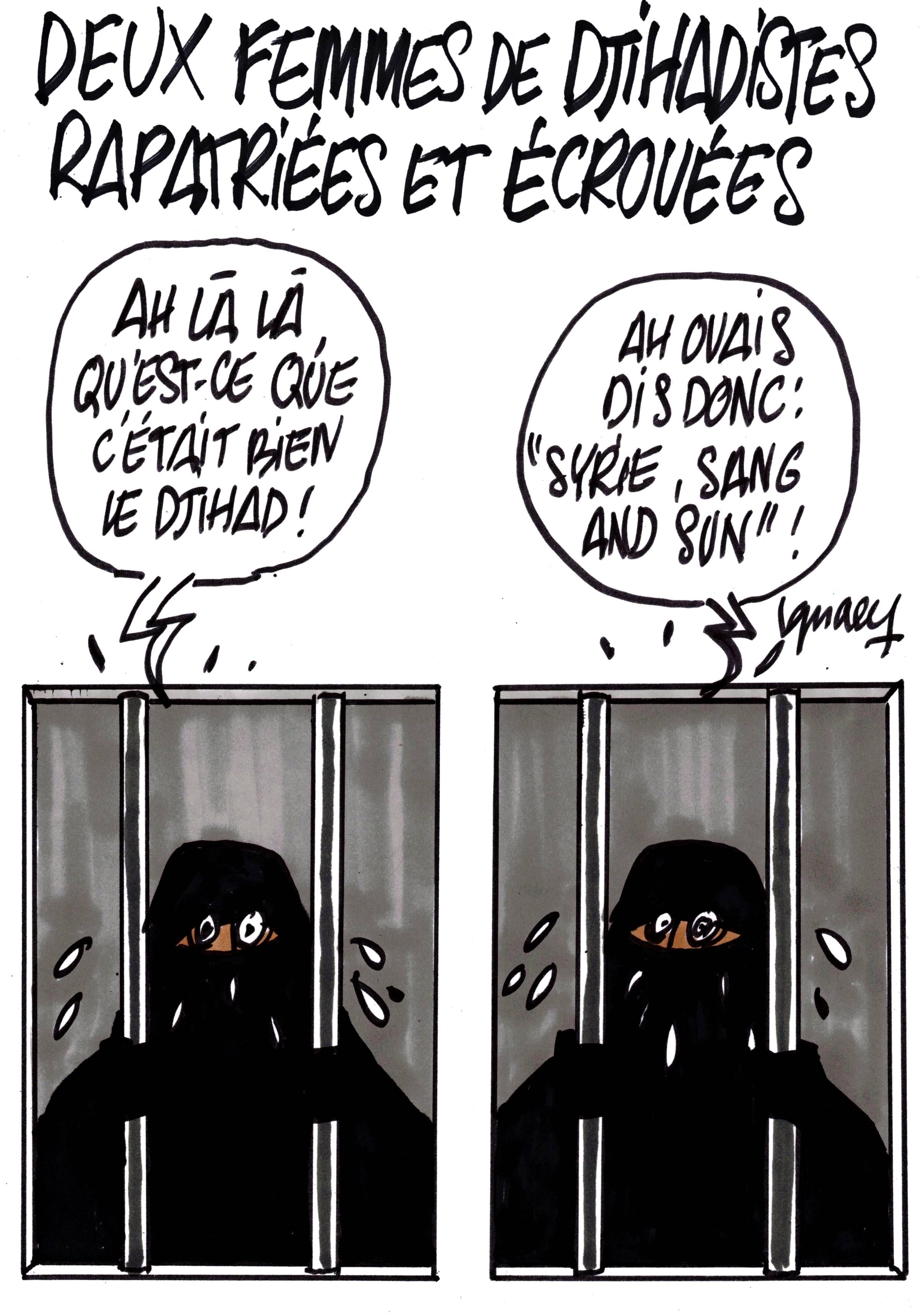 Ignace - Deux femmes de djihadistes rapatriées et écrouées