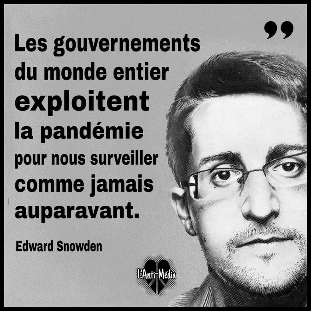 """Snowden : """"Les gouvernements du monde entier exploitent la pandémie pour nous surveiller"""""""