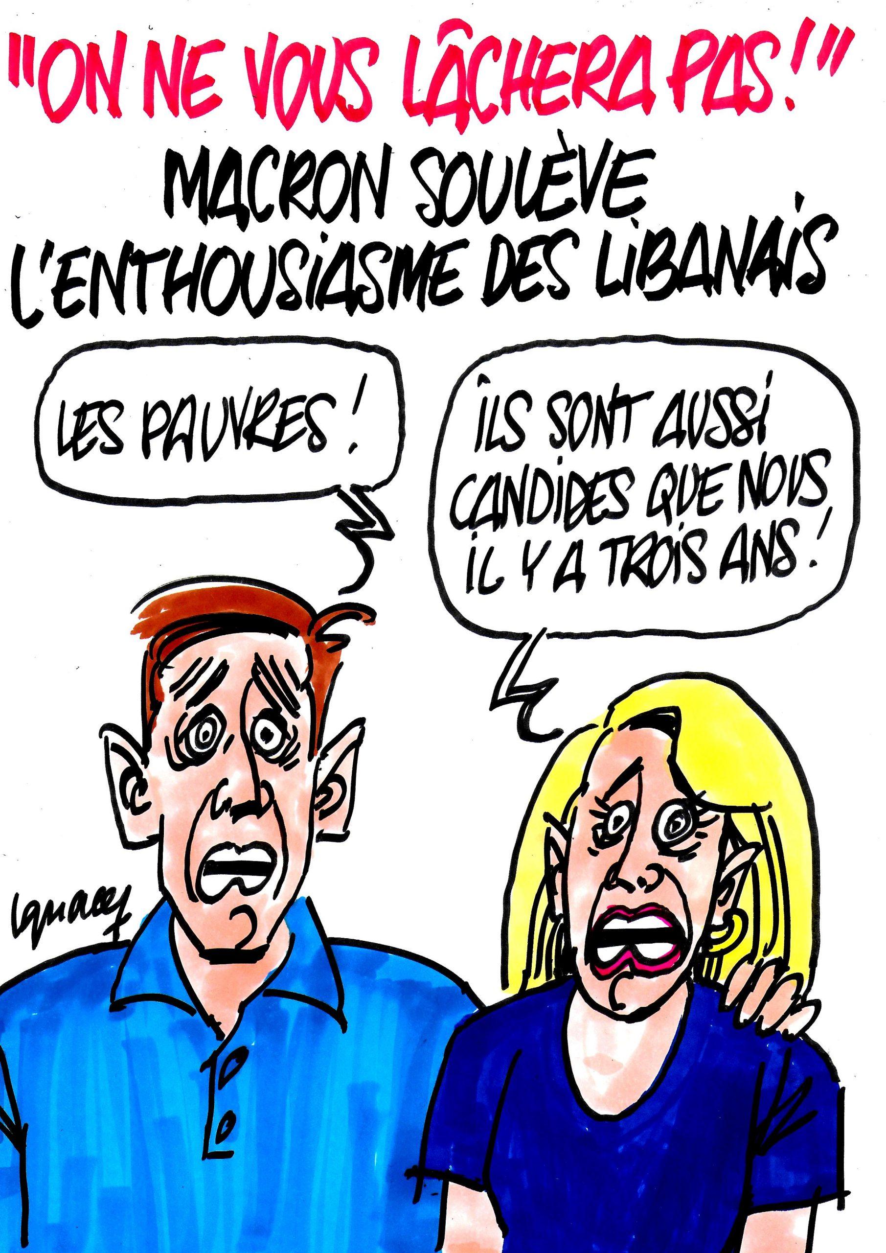 Ignace - Macron soulève l'enthousiasme des Libanais