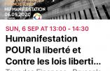Covid 19 – Appel à manifester à Bruxelles contre les lois liberticides le dimanche 6 septembre 2020