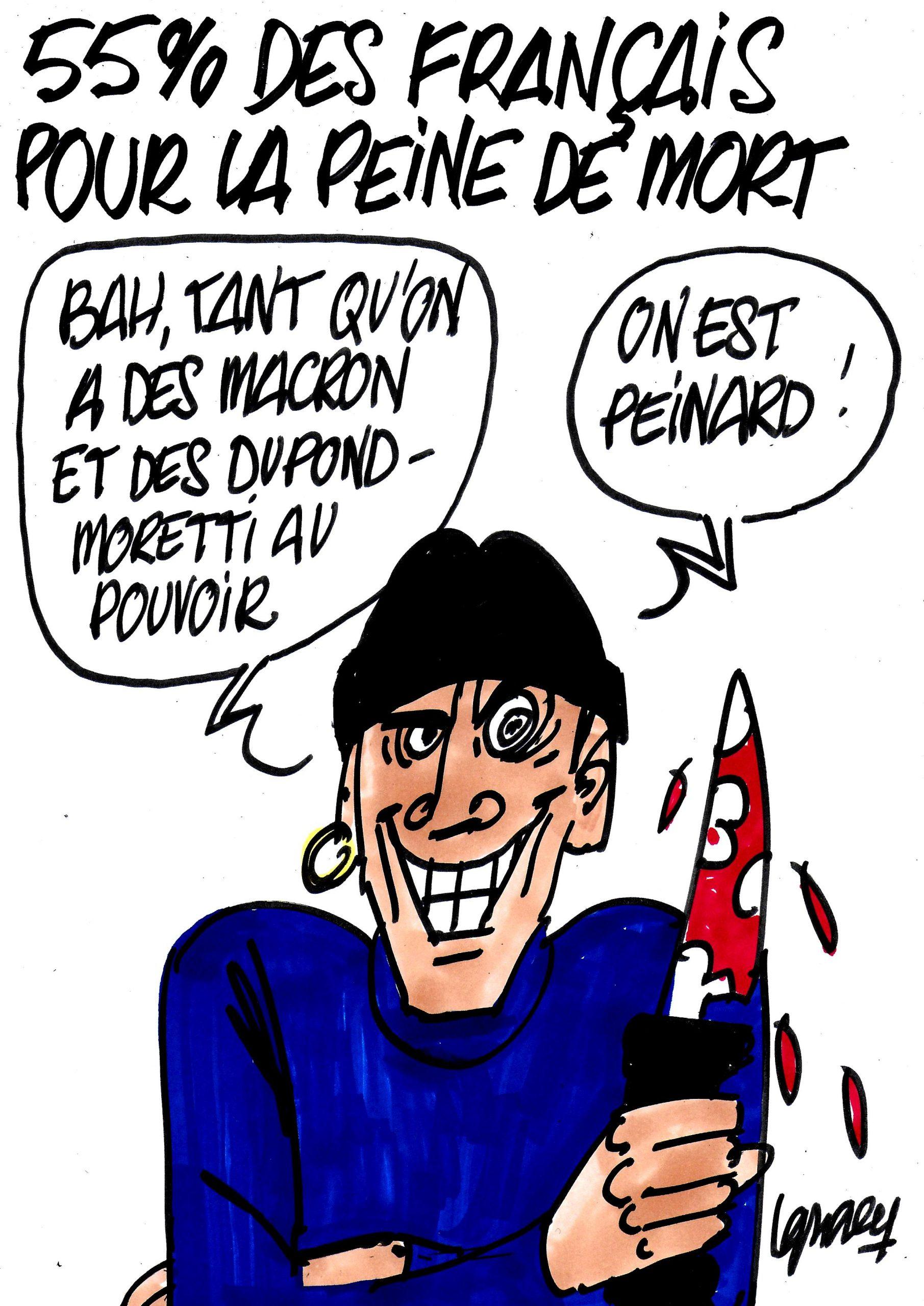 Ignace - 55% des Français favorables à la peine de mort