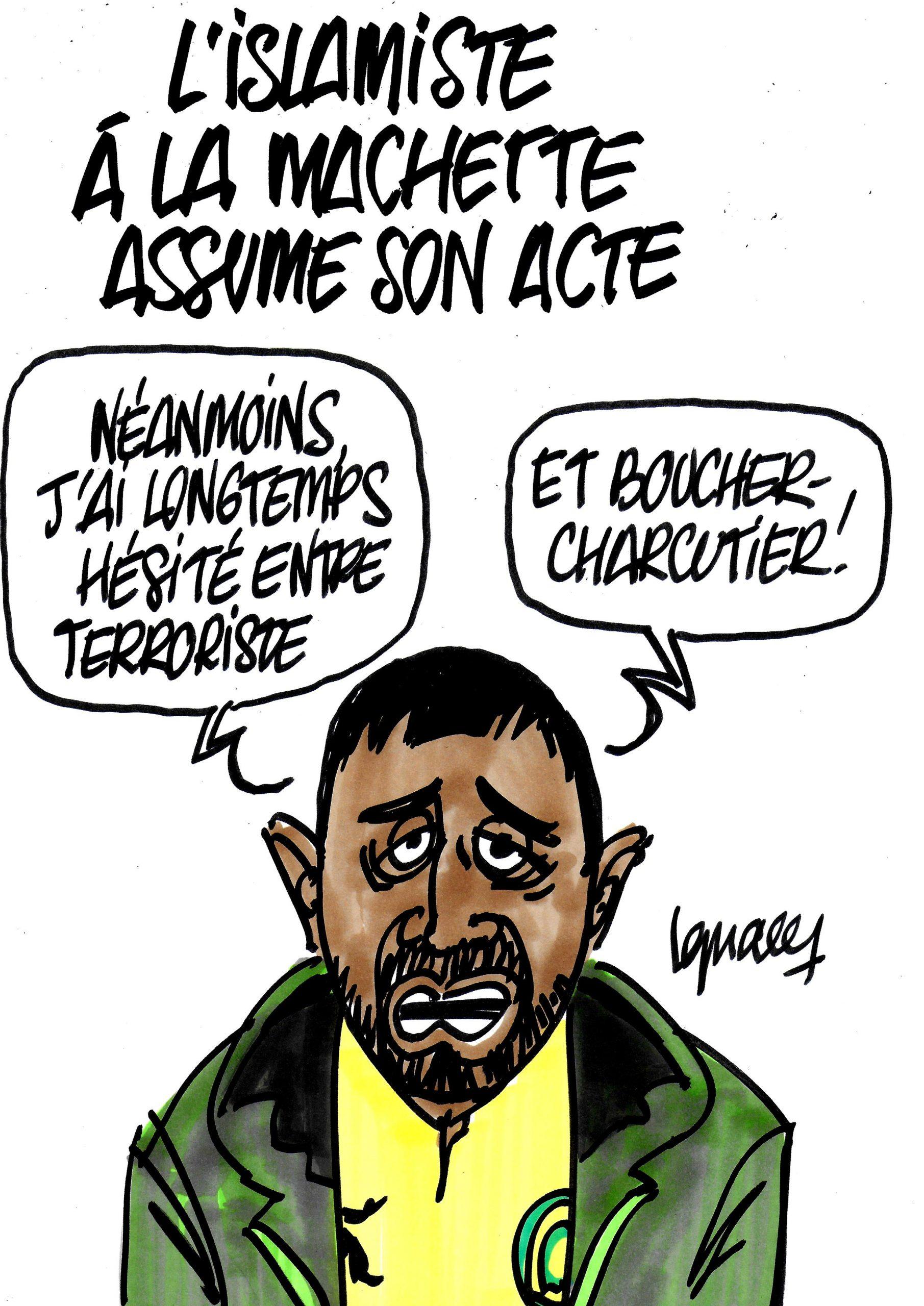 Ignace - L'islamiste à la machette assume son acte