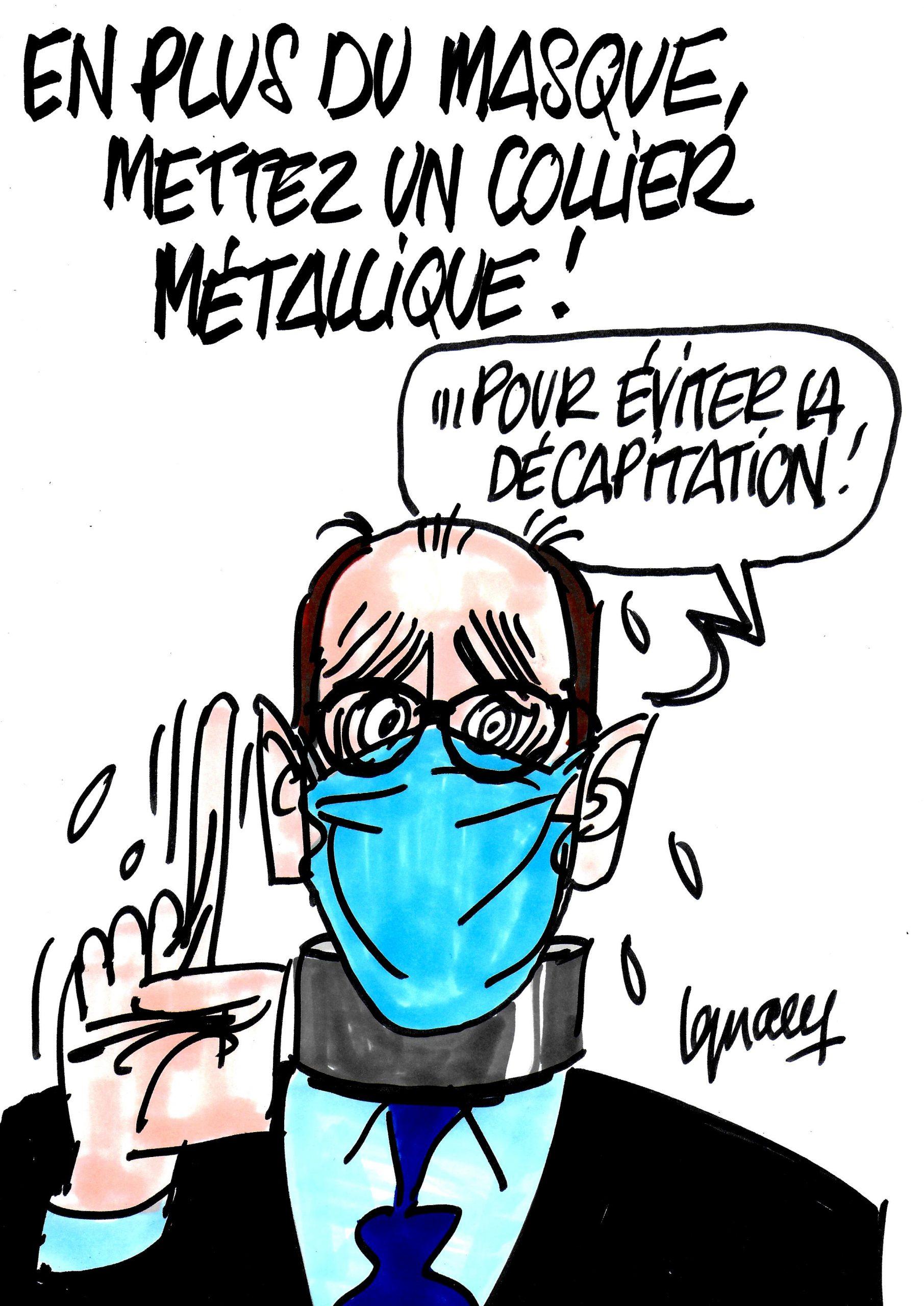Ignace - En plus du masque, mettez un colliez métallique !
