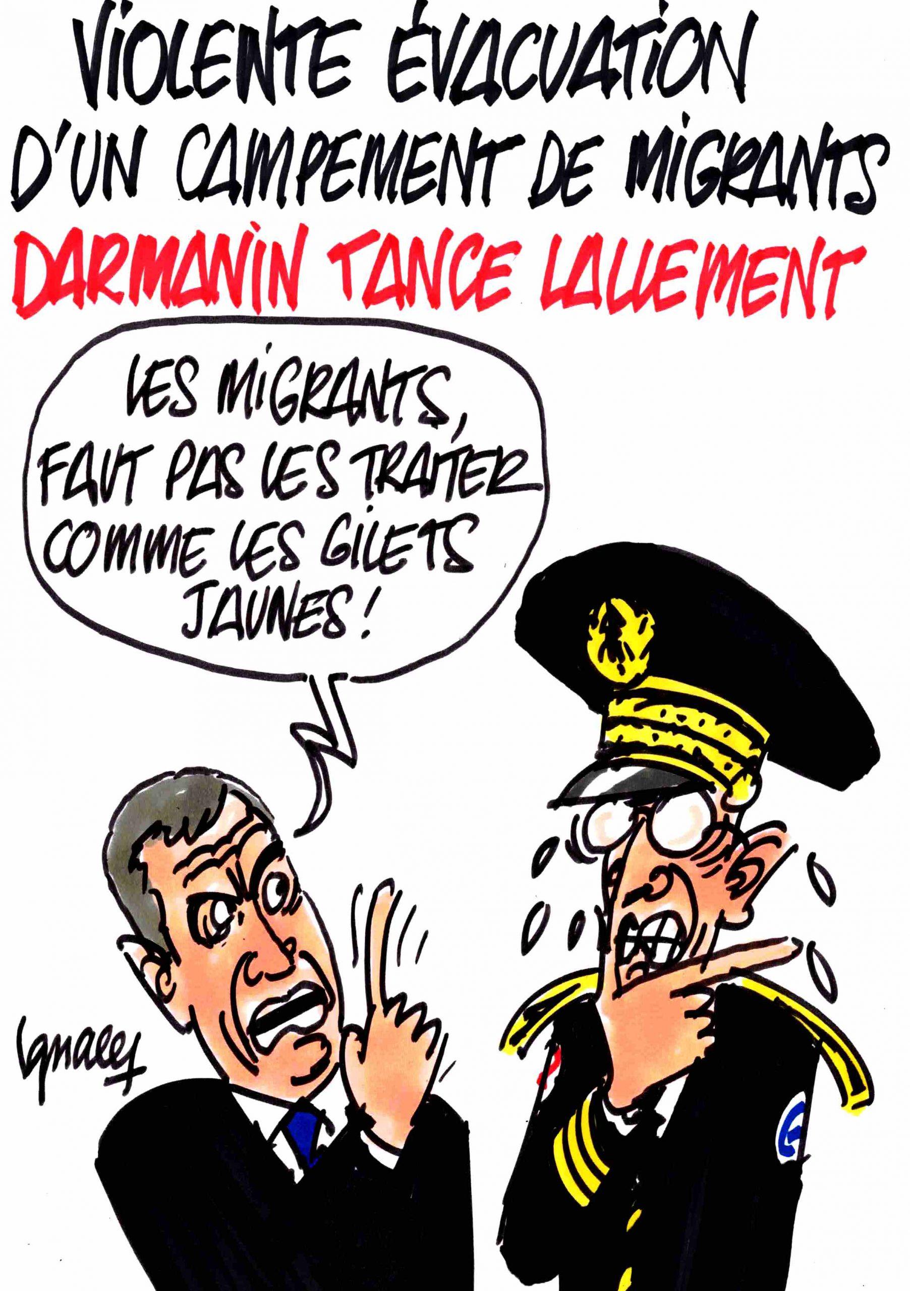 Ignace - Darmanin tance le préfet Lallement