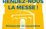 22 novembre 2020 à Saumur – Rendez-nous la Messe !