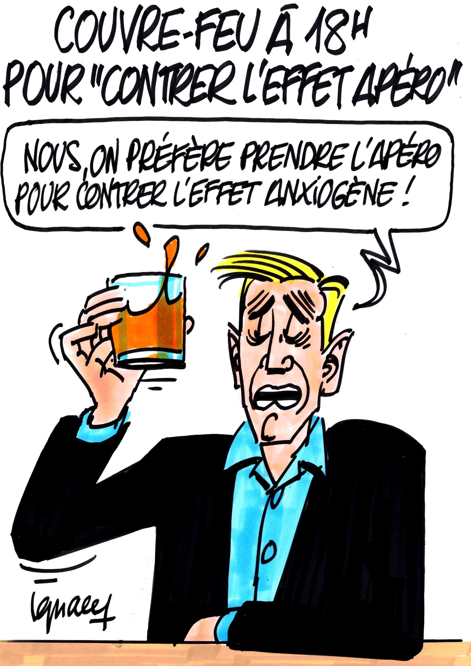 """Ignace - Couvre-feu à 18h pour """"contrer l'effet apéro"""""""