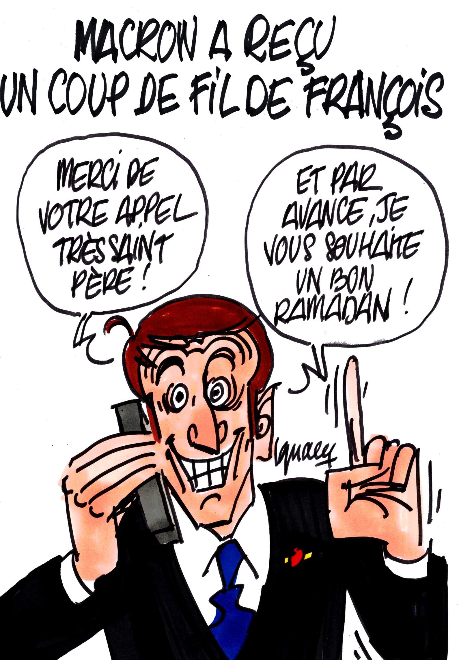 Ignace - Échange téléphonique entre François et Macron